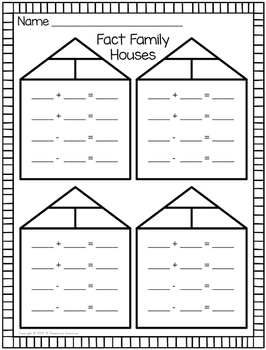 Fact Family Houses (blank)