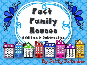 Fact Family Houses for Adding and Subtracting