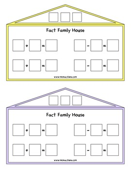 Fact Family Houses for Addition and Subtraction