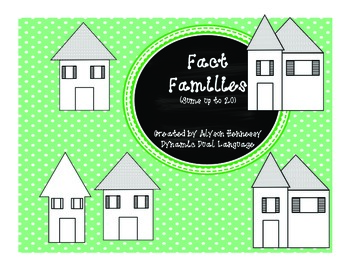 Fact Family Houses (sums up to 20) Common Core Aligned!