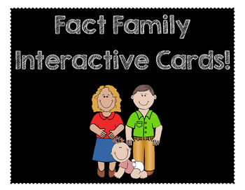 Fact Family Interactive Cards