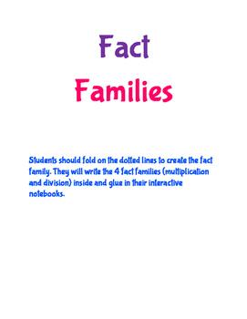 Fact Family - Interactive Notebook