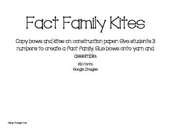 Fact Family Kites