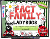 Fact Family Ladybugs Smart Board Game