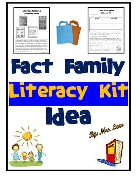 Fact Family Literacy Kit Idea
