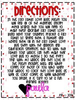 Fact Family Love Bugs!