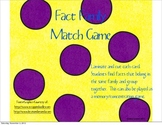 Fact Family Match Game
