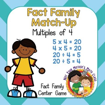 Fact Family Match - Multiples of 4