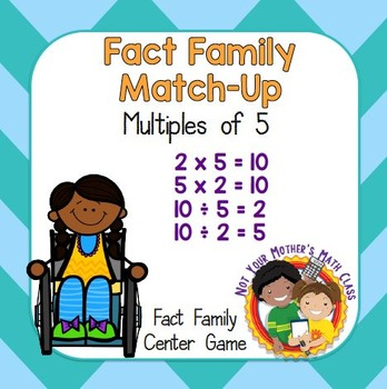 Fact Family Match - Multiples of 5