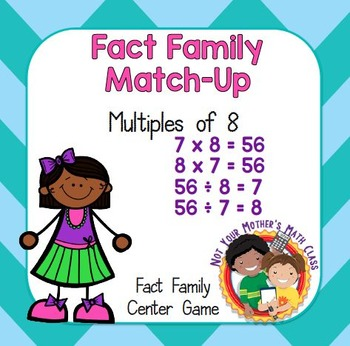 Fact Family Match - Multiples of 8