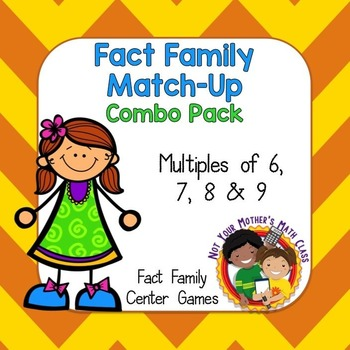 Fact Family Match Combo (Multiples of 6, 7, 8 & 9)