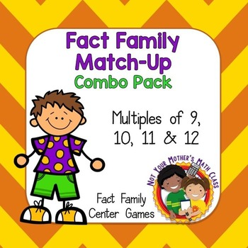 Fact Family Match Combo (Multiples of 9, 10, 11 & 12)