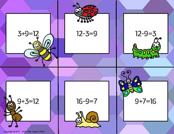 Fact Family Matching Game- Addition/ Subtraction