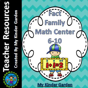 Fact Family Math Center 6-10