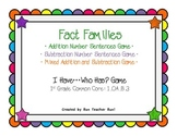 Fact Family Math Games 3-pack