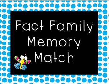 Fact Family Memory Match