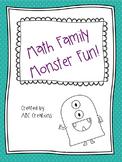 Fact Family Monster Math