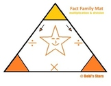 Fact Family Multiplication & Division Triangle Mat Math Printable