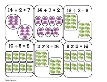 Fact Family Multiplication and Division Go Fish Game
