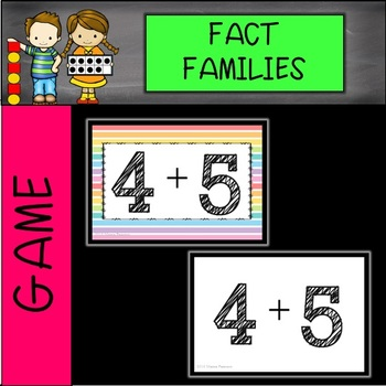 Fact Family Musical Chairs Game