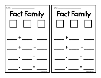 Fact Family-Number Bond-Math Center Activities (Common Core Aligned)