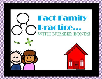Fact Family Number Bond Practice Sheets