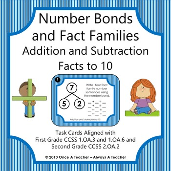 Fact Families Addition Subtraction Teaching Resources | Teachers Pay ...