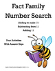 Fact Family Number Search - Elevens
