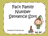 Fact Family Number Sentence Sort