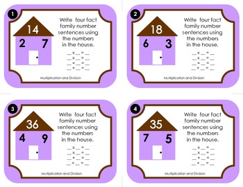 Fact Family Number Sentences:  Multiplication and Division