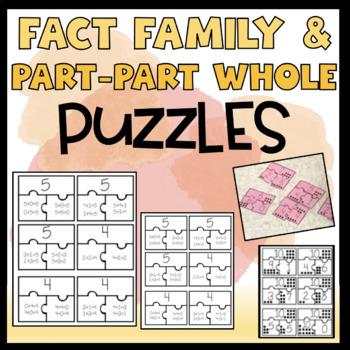 Fact Family & Part-Part-Whole Puzzles