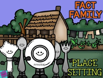 Fact Family Place Setting Craftivity - Thanksgiving