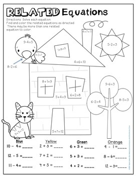 Fact Family Worksheets and Games : Addition & Subtraction ...