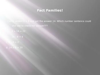 Fact Family PowerPoint