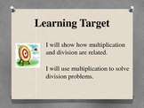 Fact Family PowerPoint - Multiplication Division 3.OA.4  3.OA.6