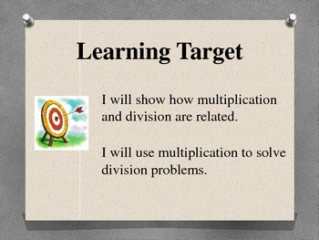 Fact Family PowerPoint - Multiplication Division 3.OA.4  3.OA.6