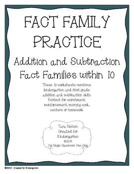 Fact Family Practice