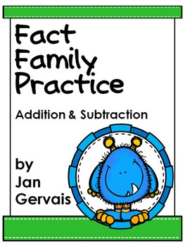 Fact Family Practice: Addition and Subtraction