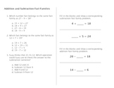 Fact Family Practice- Both Addition/Subtraction and Multiplication/Division