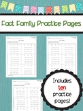 Fact Family Practice Pages