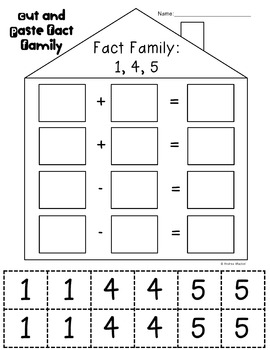 Fact Family Practice for First Grade