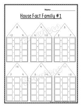 Fact Family Printables