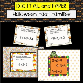 Pumpkin Fact Family Task Cards