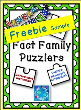 Fact Family Puzzlers ~ FREEBIE Sampler