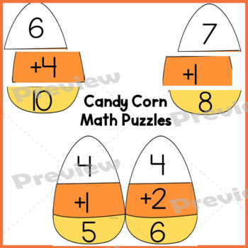 Halloween Math ~ Addition Facts  Puzzles 1-10 & Word Problems