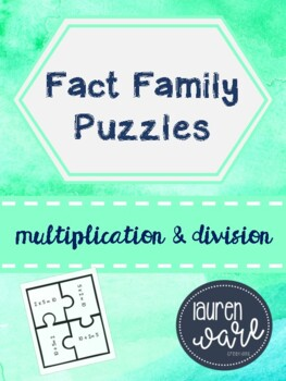 Fact Family Puzzles Multiplication and Division
