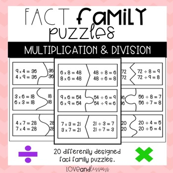 Fact Family Puzzles