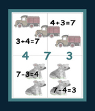Math Fact Family Puzzles for Add and Subtract Sums 2-10