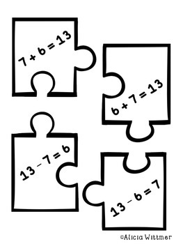 Fact Family Puzzles {Addition and Subtraction} + BONUS game!