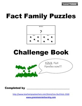 Fact Family Puzzles: Level Three